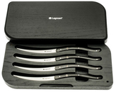 Legnoart Wagyu Steak Knife Set, 4-Pieces Dark Wood Handle