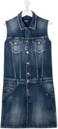 DSQUARED2 TEEN sleeveless denim dress
