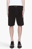 3.1 Phillip Lim Black belted and pleated karate shorts