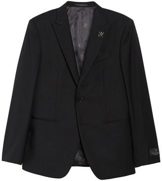 John Varvatos Black Wool Two Button Peak Lapel Suit Separates Jacket