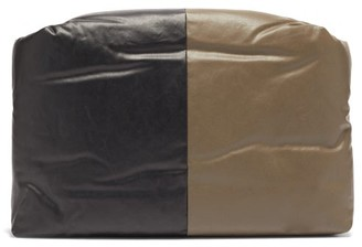 Kassl Editions Bi-colour Padded Coated Canvas Clutch - Khaki