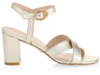 Stuart Weitzman Analeigh Metallic Leather Sandals