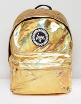 Hype Backpack In Gold Holographic