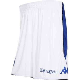 Kappa Mens SC Bastia Home Shorts Blue Royal/White