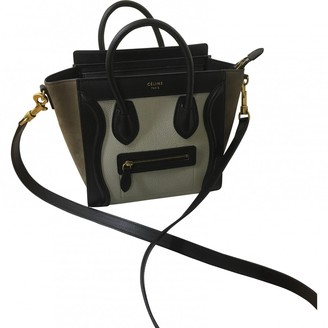 Celine Nano Luggage Green Leather Handbags