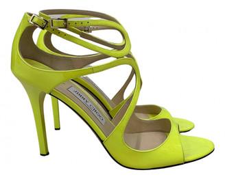 Jimmy Choo Lance Yellow Patent leather Sandals