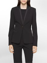 Calvin Klein Satin Luxe Suit Jacket