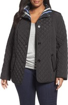 Gallery Plus Size Women's Plaid Lined Quilted Barn Jacket