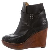 Rag & Bone Leather Wedge Ankle Boots