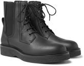 Lanvin Leather Combat Boots - Black