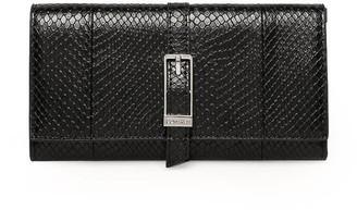 Calvin Klein Black Reptile Effect Crossbody Bag