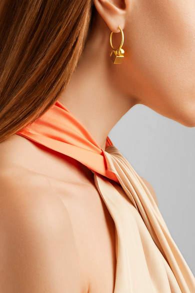 Marie Helene De Taillac Marie-Hélène de Taillac - Sonia D 22-karat Gold Hoop Earrings