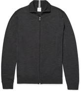 Paul Smith Mélange Merino Wool Zip-Up Cardigan
