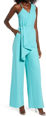 Lavish Alice Surplice Twill Jumpsuit