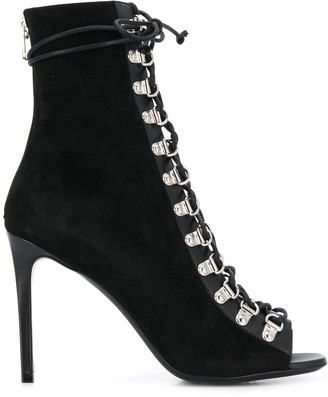 Balmain lace-up heeled ankle boots