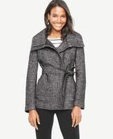 Ann Taylor Petite Tweed Funnel Jacket