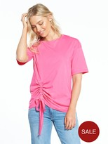 Warehouse Ruched Side Tee