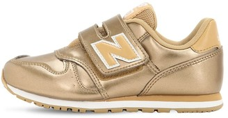 New Balance 373 LAMINATED FAUX LEATHER SNEAKERS