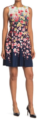 Tash + Sophie Princess Seam Floral Print Dress