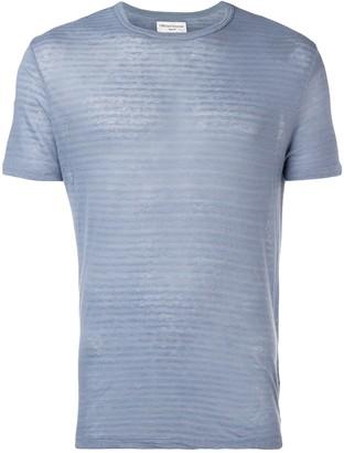 Officine Generale textured pattern T-shirt