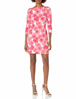 Joan Vass Women's Printed Pique Cotton Dress
