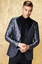 Jacquard Skinny Fit Suit Jacket