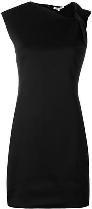 Helmut Lang asymmetric shoulders mini dress