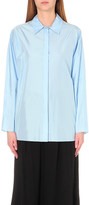Nina Ricci Gather-detailed silk shirt