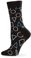 Happy Socks Geometric Print Crew Socks
