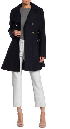 Laundry by Shelli Segal Fit & Flare Wool Blend Coat