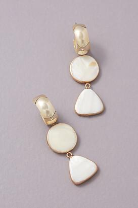 Anthropologie Maris Drop Earrings By in White Size ALL