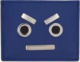 Fendi Blue 'Fendi Faces' Card Holder
