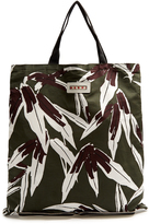 Marni Self-stowing linen and cotton-blend tote