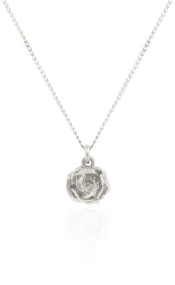 Lee Renee Rose Necklace Silver