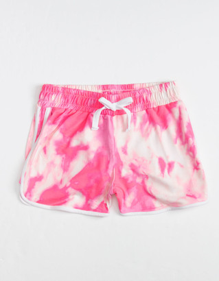 FULL CIRCLE TRENDS Tie Dye Contrast Piping Girls Shorts