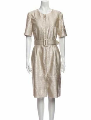 Oscar de la Renta 2018 Midi Length Dress Gold