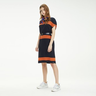 Tommy Hilfiger Pleated Stripe Sweater Dress