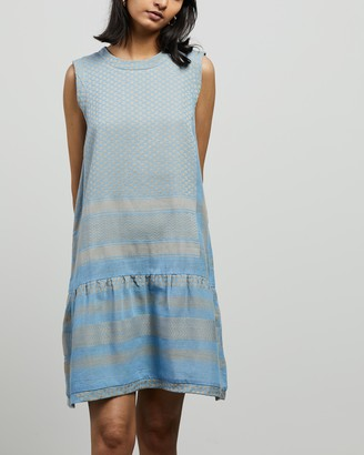 Cecilie Copenhagen Women's Blue Mini Dresses - Dress 2 O No Sleeves - Size L at The Iconic