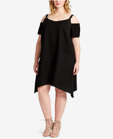 Jessica Simpson Trendy Plus Size Cold-Shoulder Dress