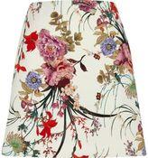 River Island Womens Cream floral print mini skirt