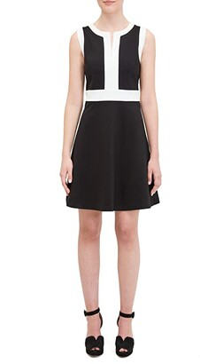 Kate Spade Contrast Panel Ponte Dress (Black) Women's Dress