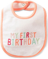 Carter's Baby Girls' My First Birthday Bib