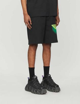 Boy London Ghost logo-print cotton-jersey shorts