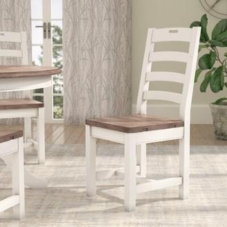 Gracie Oaks Fallston Solid Wood Dining Chair Gracie Oaks