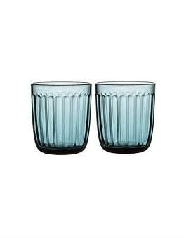 Iittala Raami Tumbler Set Of 2 Sea Blue