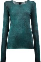 Avant Toi washed effect jumper - women - Silk/Cashmere - M