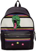 Saint Laurent Black Dino City Backpack