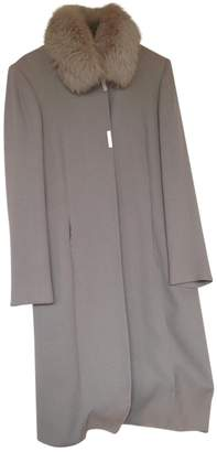 Gianfranco Ferre Grey Wool Coats