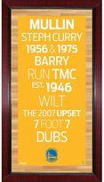 """Steiner Sports Golden State Warriors 32"""" x 16"""" Vintage Subway Sign"""