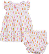 Kissy Kissy Prismatic Pineapples Printed Dress w/ Matching Bloomers, Size 6-24 Months